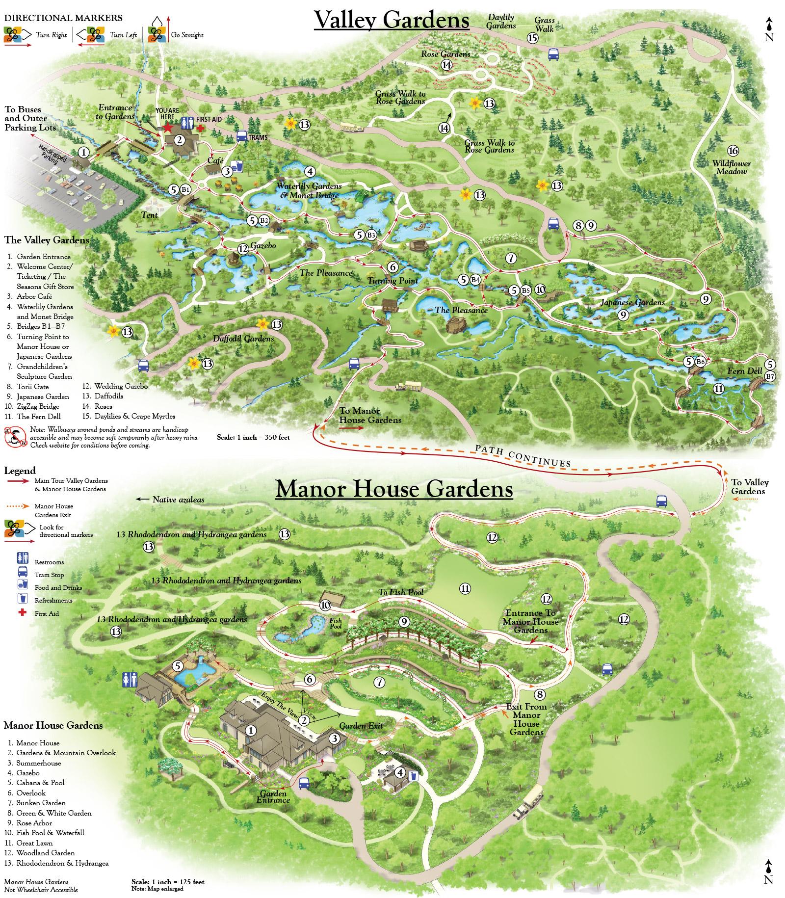 House Garden Map >> North Ga Gardens Printable Map Gibbs Gardens